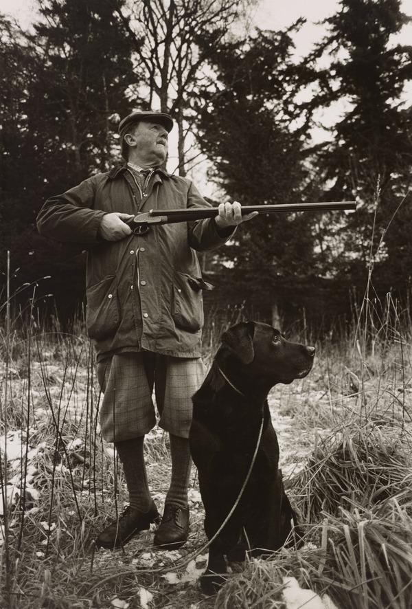 Sportsman with Gun, Lt Col R.A.T. Campbell-Preston at Pheasant Shoot from the series 'The Scottish Sporting Estates' (1984)
