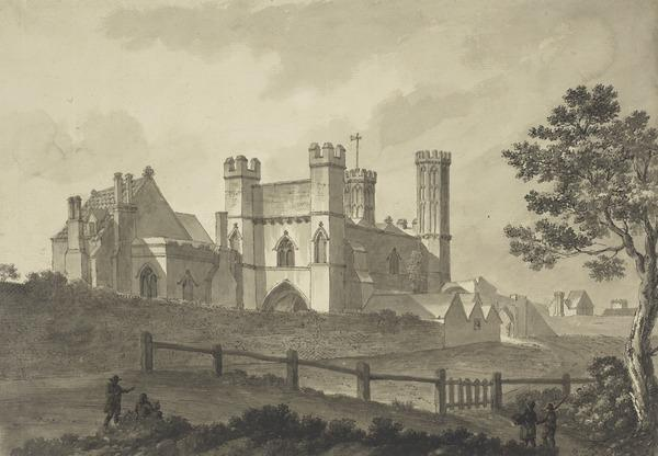View of the Inside of the Gateway to St Augustine's Monastery at Canterbury (Dated 18th September, 1784)