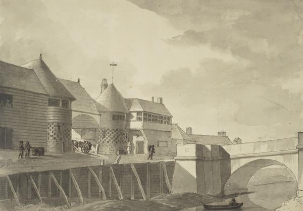 View of the Drawbridge Gate of the Town of Sandwich (Dated 25th September, 1784)