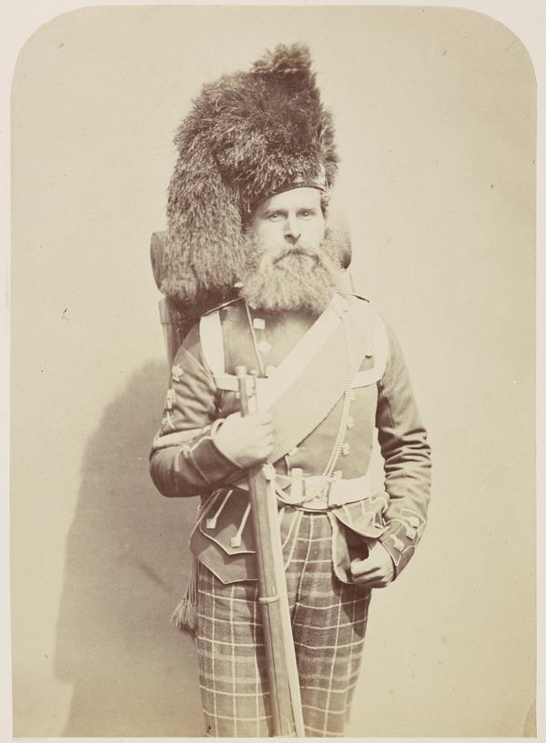 Andrew Taylor 'Sergeant Major - 72nd Highlanders' from the series 'Crimean Heroes' (1856)