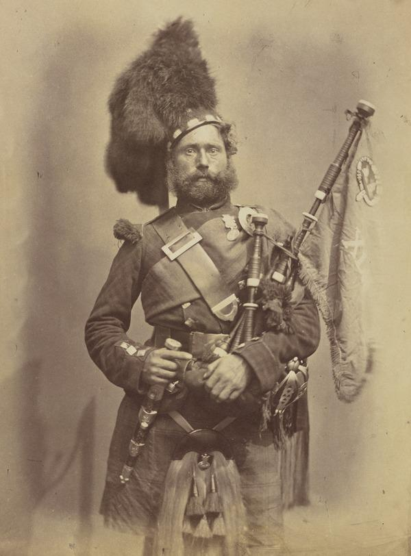 David Muir 'Pipe Major - 42nd Highlanders' from the series 'Crimean Heroes' (1856)