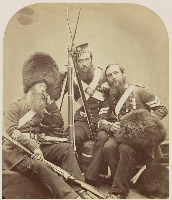 'Scotch Fusileer Guards' from the series 'Crimean Heroes' (1856)