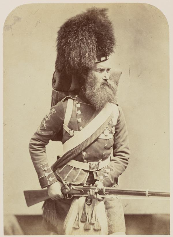 'Color-Serjeant - 42nd Highlanders' William Gardiner D.C.M. who won the V.C. in the Indian Mutiny; from the series 'Crimean Heroes'