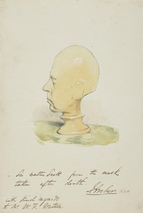 The Death Mask of Sir Walter Scott (About 1850)