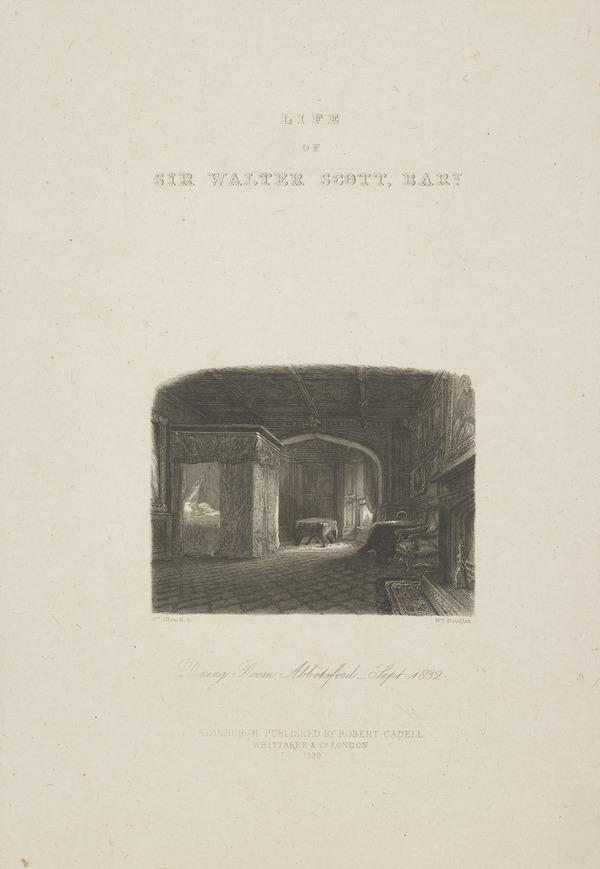 "Frontispiece to J. G. Lockhart's ""Life of Sir Walter Scott Bart."" Showing The Dining Room, Abbotsford, 1839 (1839)"