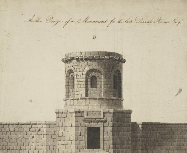 Design for a Monument to David Hume (About 1777)