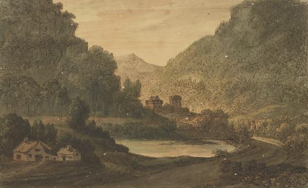 Landscape with a Castle, Lake and a Cottage (About 1780)