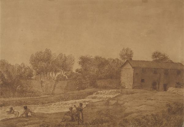 Roman Landscape with Bathers (About 1715)
