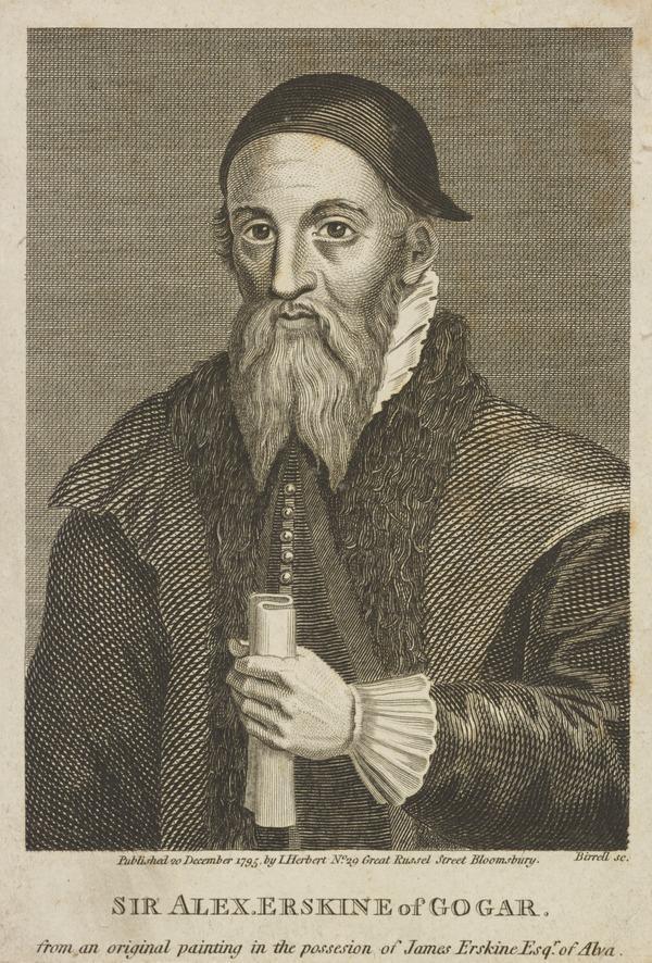 Sir Alexander Erskine of Gogar, c 1521 - c 1592. Guardian of James VI (Published 1795)