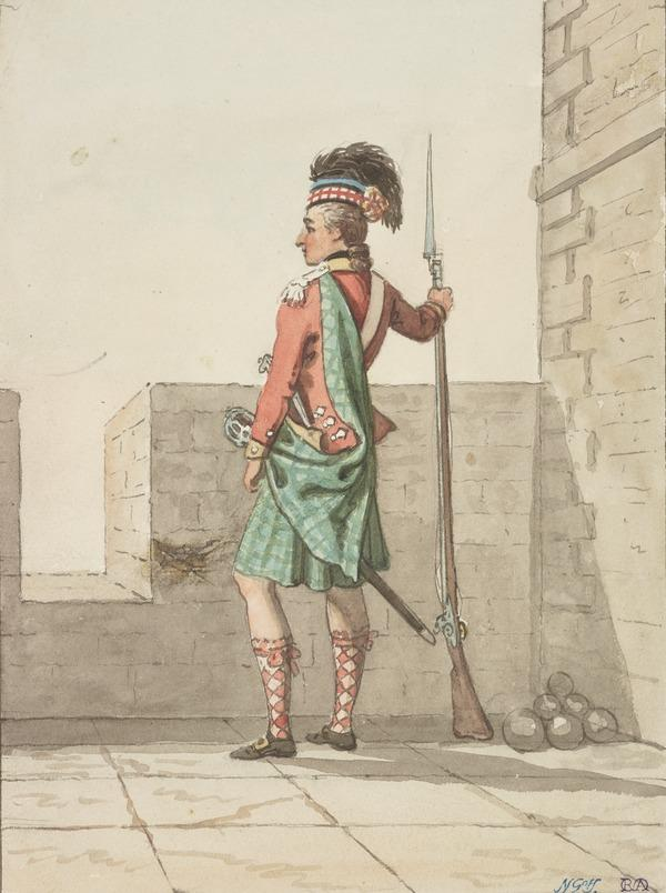 A Highland Soldier (About 1785)