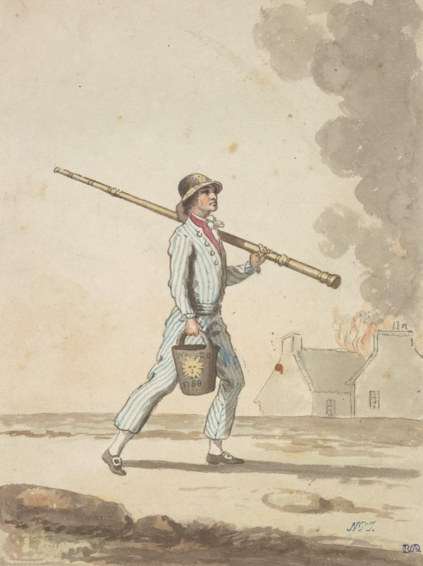 An Edinburgh Fireman (See also D 400) (About 1785)