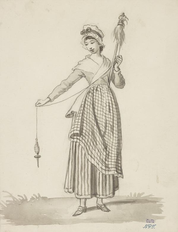 A Girl with a Distaff (About 1785)