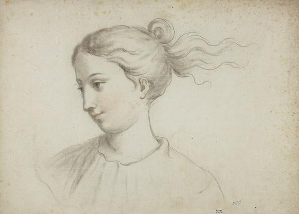 Head of a Woman (possibly Shirley Welsh, the Artist's Wife) (1760)