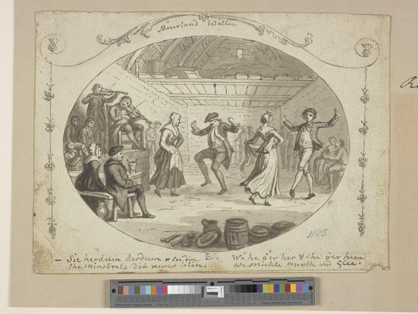Illustration to the Poem 'Muirland Willie'. A Dance in a Barn (About 1790)