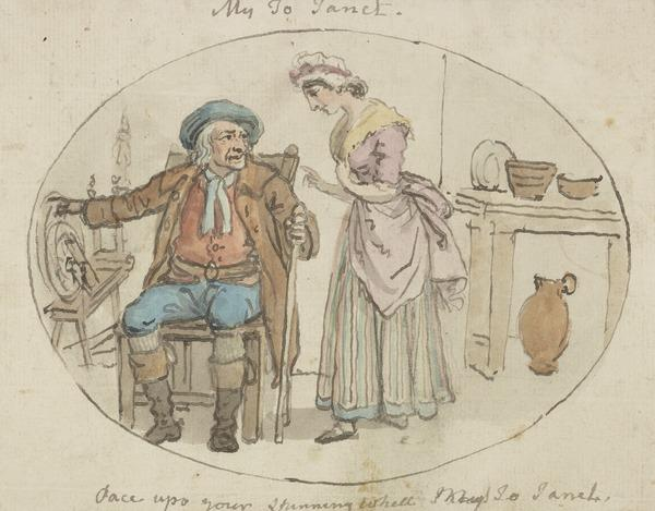 Illustration to the Poem 'My Jo Janet' from the Scottish Musical Museum Vol. II, No. 3 (About 1790)