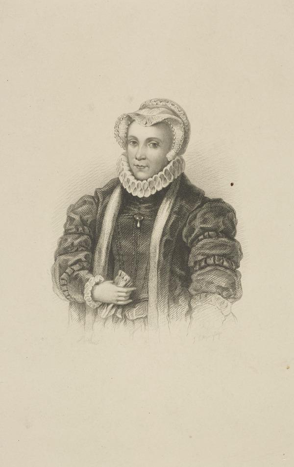 Lady Margaret Douglas, Countess of Lennox, 1515 - 1578. Mother of Lord Darnley (Published 1851)