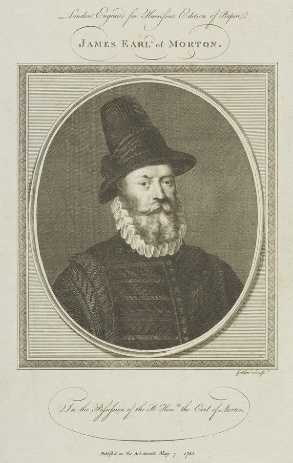 James Douglas, 4th Earl of Morton, about 1516 - 1581. Regent of Scotland (Published 1785)
