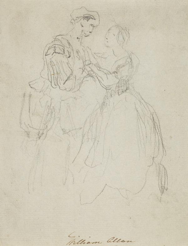 A Man and Woman in Sixteenth Century Costume (About 1830)
