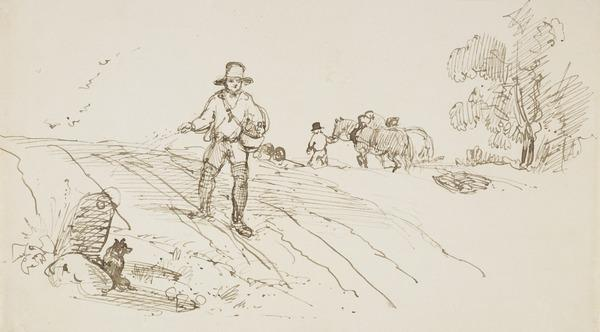 A Farmer Sowing Seed (About 1830)
