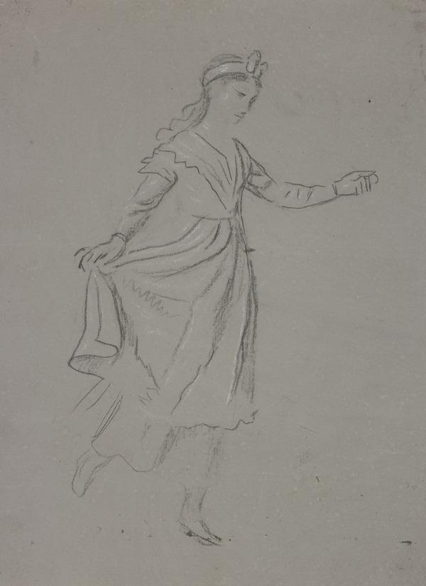 A Girl Dancing. Study for the Painting 'The Penny Wedding' (About 1795)