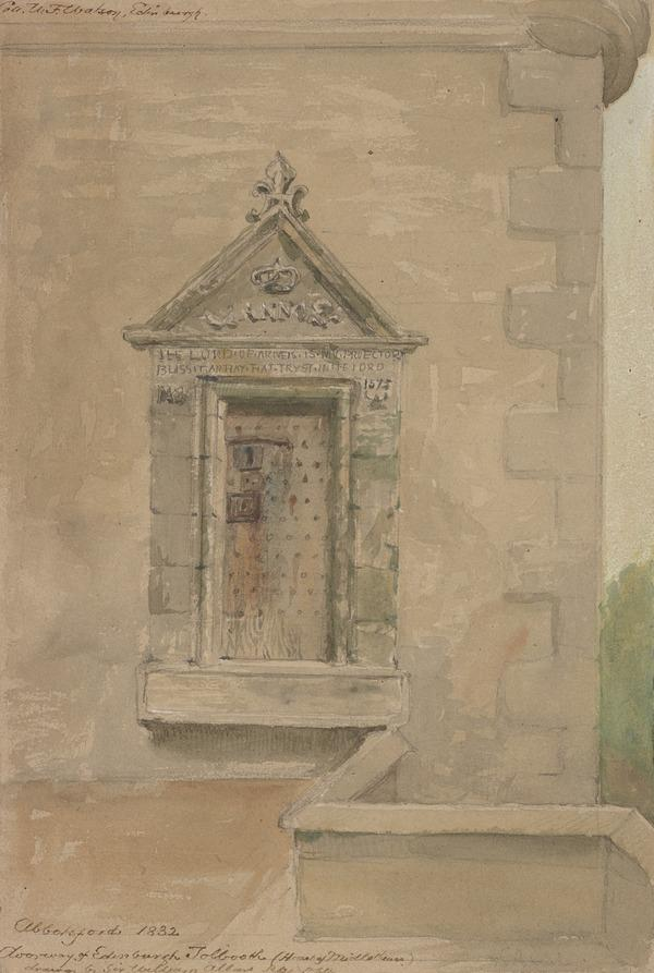 The Doorway of the Old Edinburgh Tolbooth, Presented to Sir Walter Scott and Installed at the West End of Abbotsford House after the Demolition... (1832)