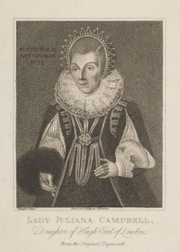 Juliana Campbell, Lady Campbell, b. 1581. Wife of the 8th Laird of Glenorchy (1797)