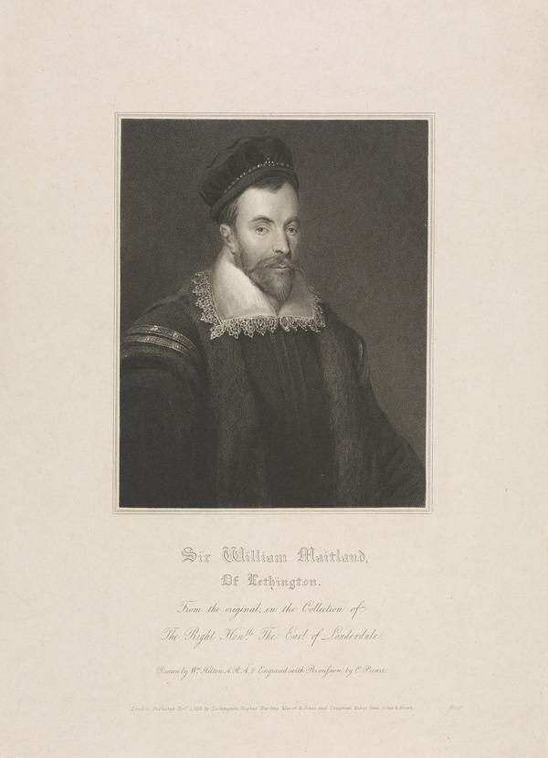 William Maitland of Lethington, c 1528 - 1573. Secretary to Mary, Queen of Scots (Published 1818)