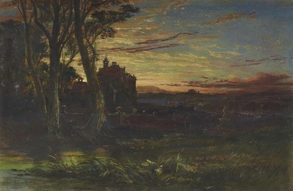 The Haunted House, Evening (Dated 1851)