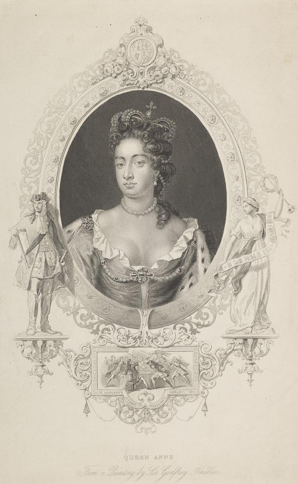 Queen Anne, 1665 - 1714. Reigned 1702 - 1714