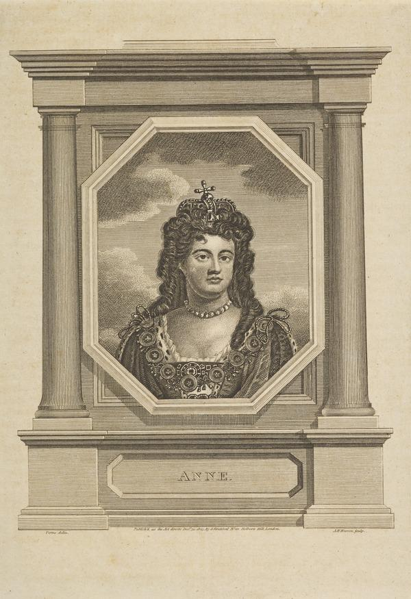 Queen Anne, 1665 - 1714. Reigned 1702 - 1714 (Published 1803)