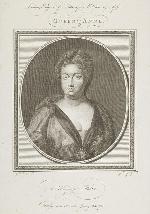 Queen Anne, 1665 - 1714. Reigned 1702 - 1714 (Published 1785)