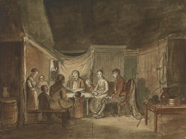 Illustration to Burns' 'The Cottar's Saturday Night'