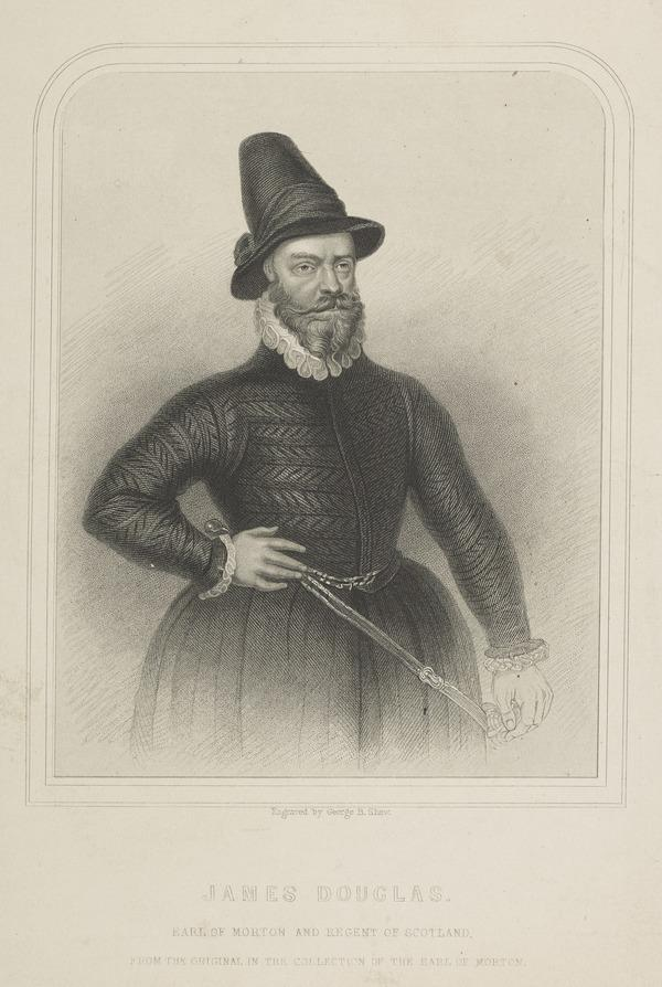 James Douglas, 4th Earl of Morton, about 1516 - 1581. Regent of Scotland (Possibly mid 19th century)