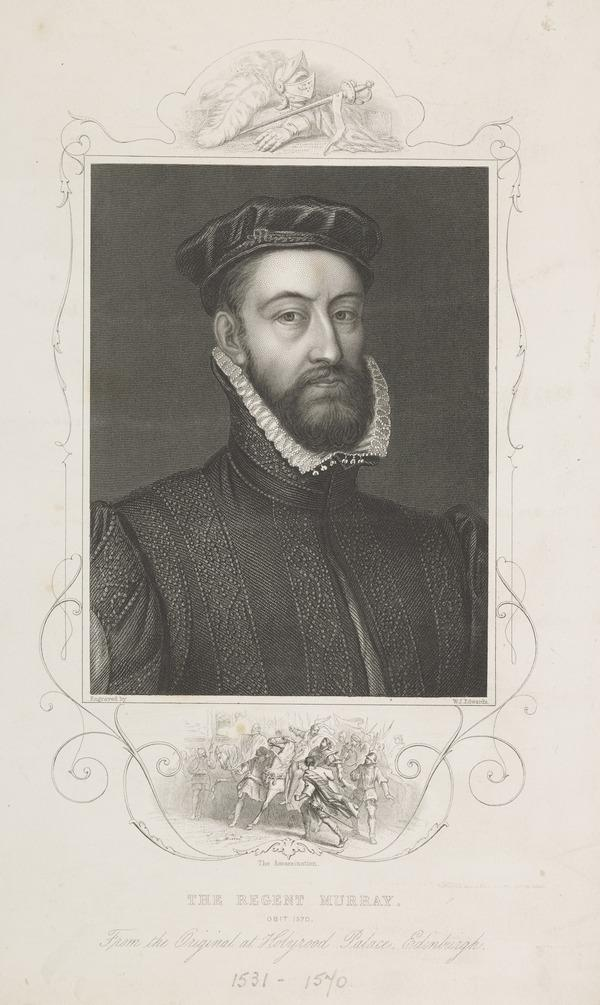 James Stewart, Earl of Moray, c 1531 - 1570. Regent of Scotland (Possibly 19th century)