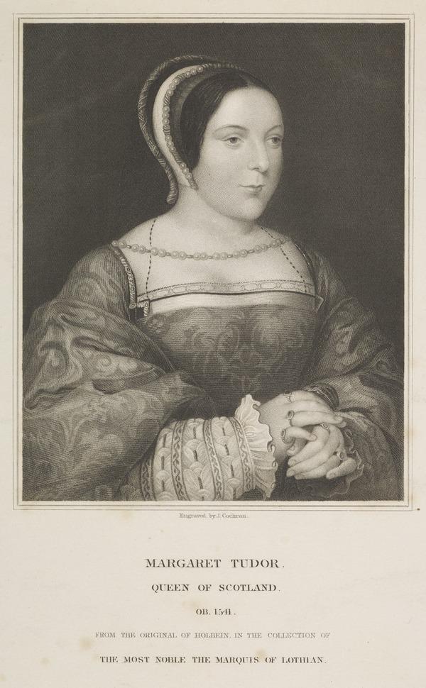 Queen Margaret (Tudor), 1489 - 1541. Queen of James IV (Published 1834)