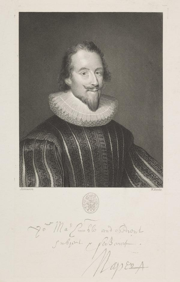 Sir Archibald Napier, 1st Lord Napier, 1576 - 1645. Extraordinary Lord of Session (Published 1856)