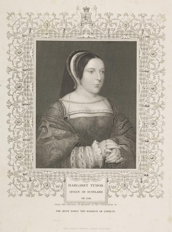 Queen Margaret (Tudor), 1489 - 1541. Queen of James IV (Possibly mid 19th century)