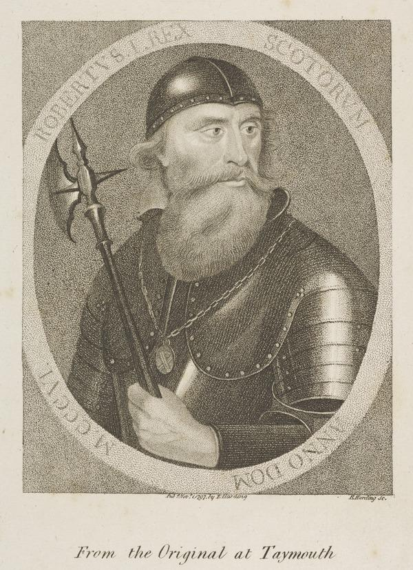 Robert I (known as Robert the Bruce), 1274 - 1329. Earl of Carrick and Lord of Annandale. Reigned 1306 - 1329 (Published 1797)