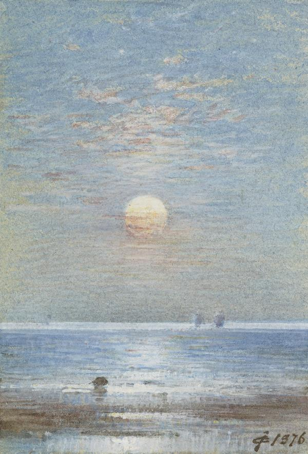 Moonlight Seascape - 'The Moon Is Up And Yet It Is Not Night' (Dated 1876)