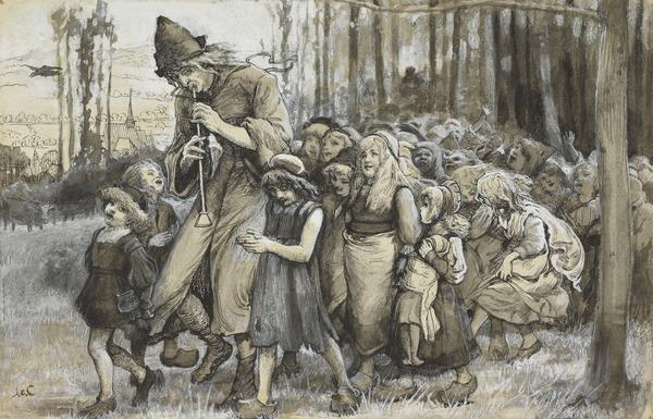 Study for the Painting 'The Pied Piper of Hamelin'