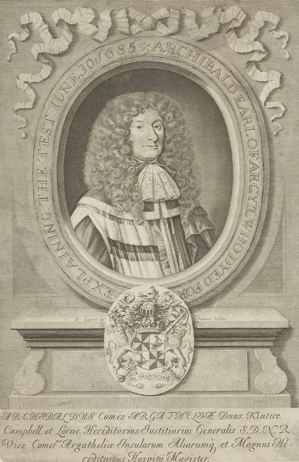 Archibald Campbell, 9th Earl of Argyll, 1629 - 1685. Confederate of the Duke of Monmouth