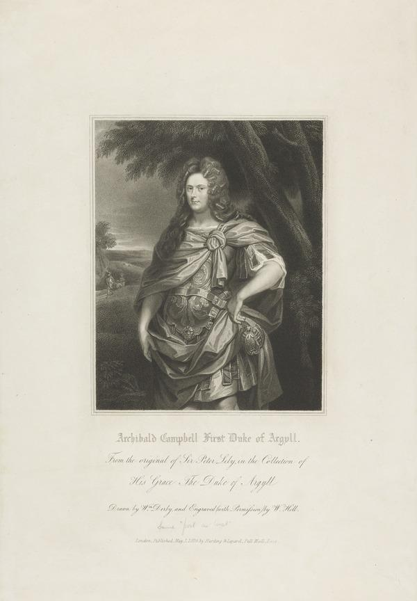 Archibald Campbell, 1st Duke of Argyll, d. 1703. Extraordinary Lord of Session (Published 1826)