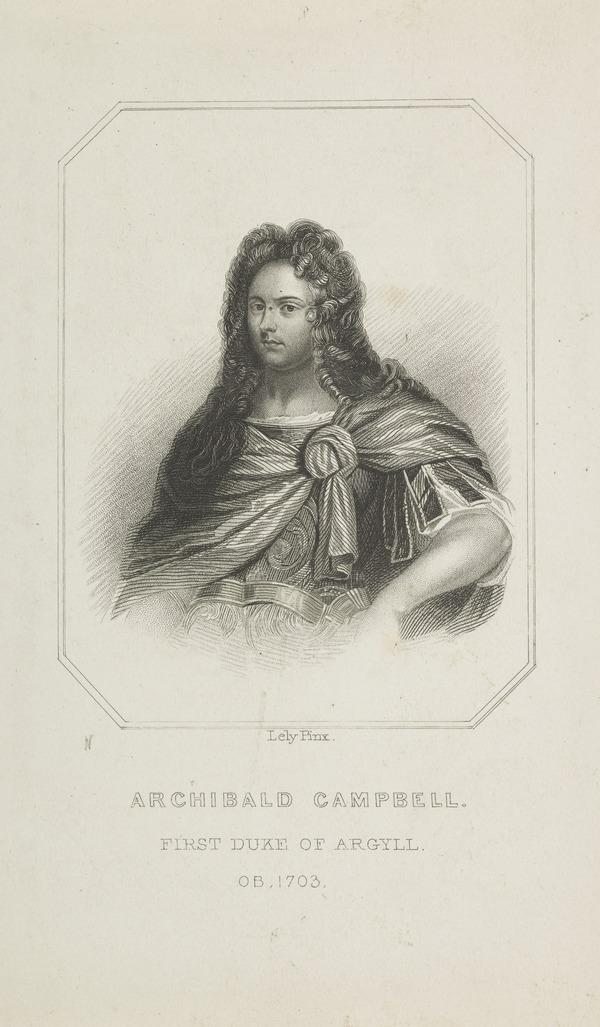 Archibald Campbell, 1st Duke of Argyll, d. 1703. Extraordinary Lord of Session