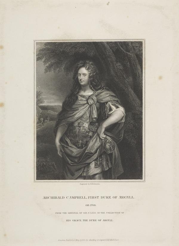 Archibald Campbell, 1st Duke of Argyll, d. 1703. Extraordinary Lord of Session (Published 1835)