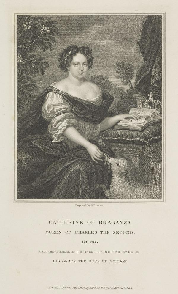 Catherine of Braganza, 1638 - 1705. Queen of Charles II (1830)