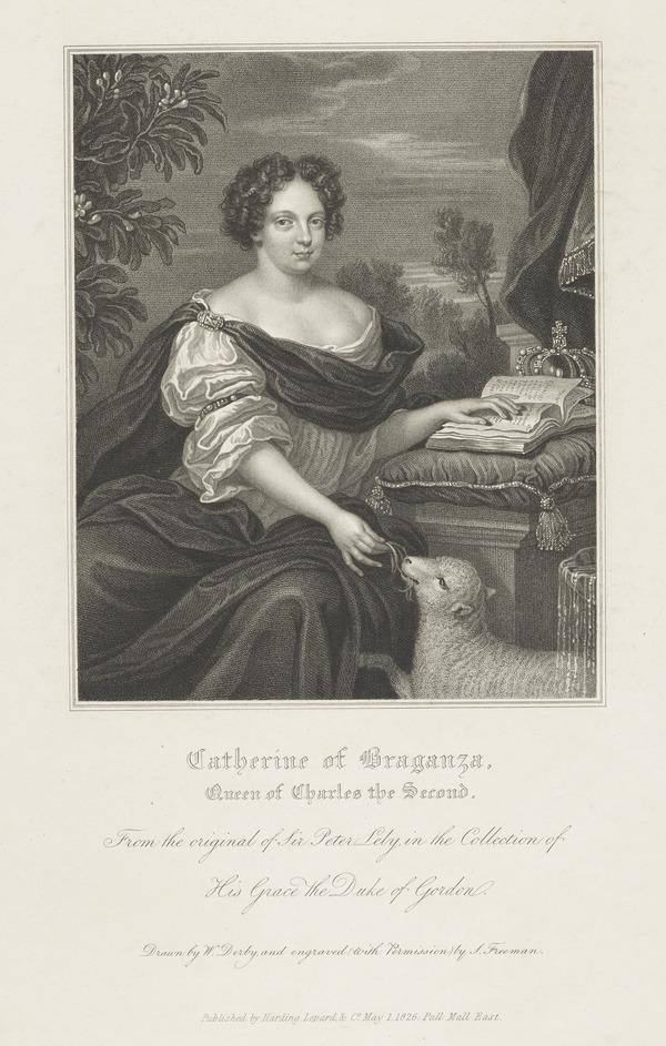 Catherine of Braganza, 1638 - 1705. Queen of Charles II (Published 1826)