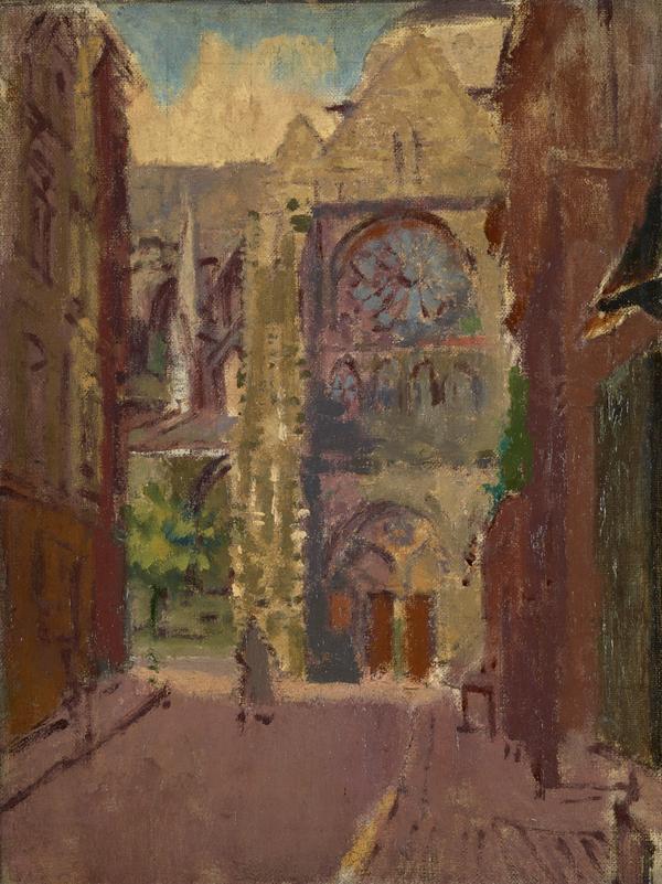 La Rue Pecquet, Dieppe (About 1908 - 1909)