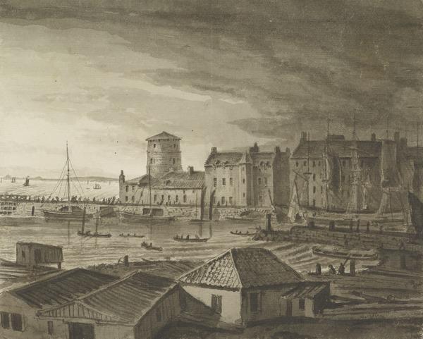 Leith Harbour from the West, Edinburgh (1805 - 1812)