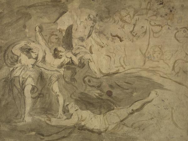 The Hunting of Cathloda [Verso: Sketch of King Lear and the Fool]