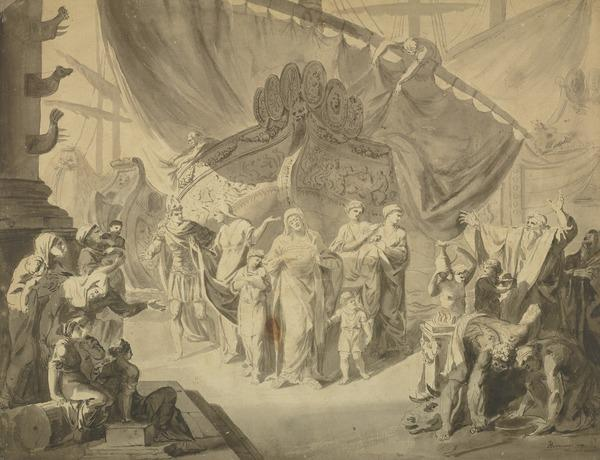 Study for the Painting 'Agrippina Landing at Brundisium with the Ashes of Germanicus'